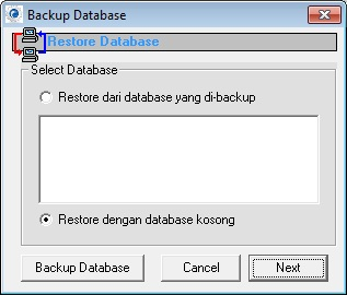 restore database